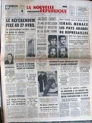La Nouvelle République du Centre-Ouest, n° 7429, 20/02/1969, p. 1
