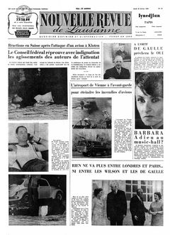 Nouvelle revue de Lausanne, nº 42, 20/02/1969, p. 1
