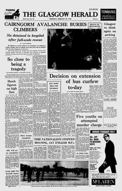 The Glasgow Herald, nº 22, 20/02/1969, p. 1