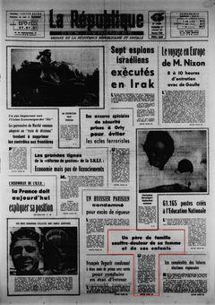 La République des Pyrénées, nº 7456, 21/02/1969, p. 1
