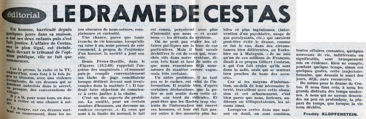 La Vie protestante, 21/02/1969