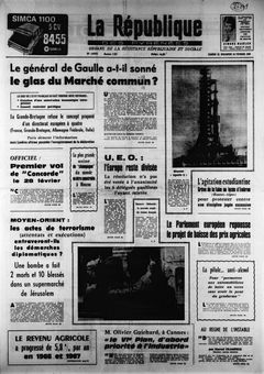 La République des Pyrénées, nº 7457, 22 février 1969, p. 1