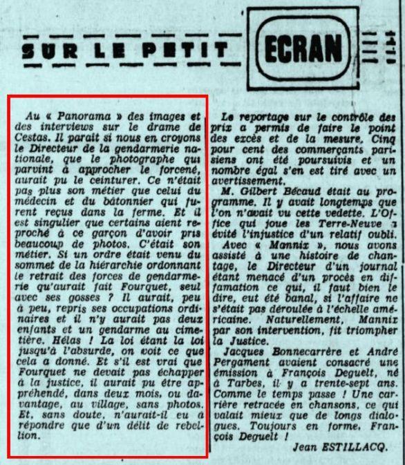 La République des Pyrénées, nº 7457, 22 février 1969, p. 17