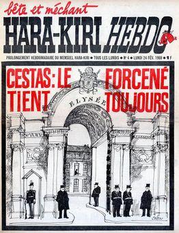 Hara-kiri hebdo, nº 4, 24/02/1969, p. 1