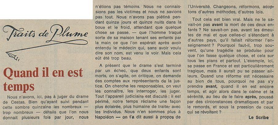 La Liberté, nº 120, 24/02/1969, p. 3