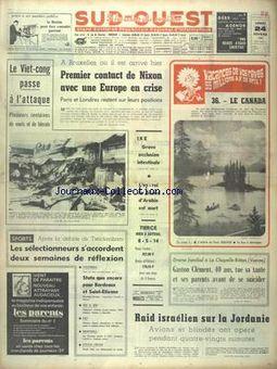 Sud-Ouest, nº 7619, 24 février 1969, p. 1
