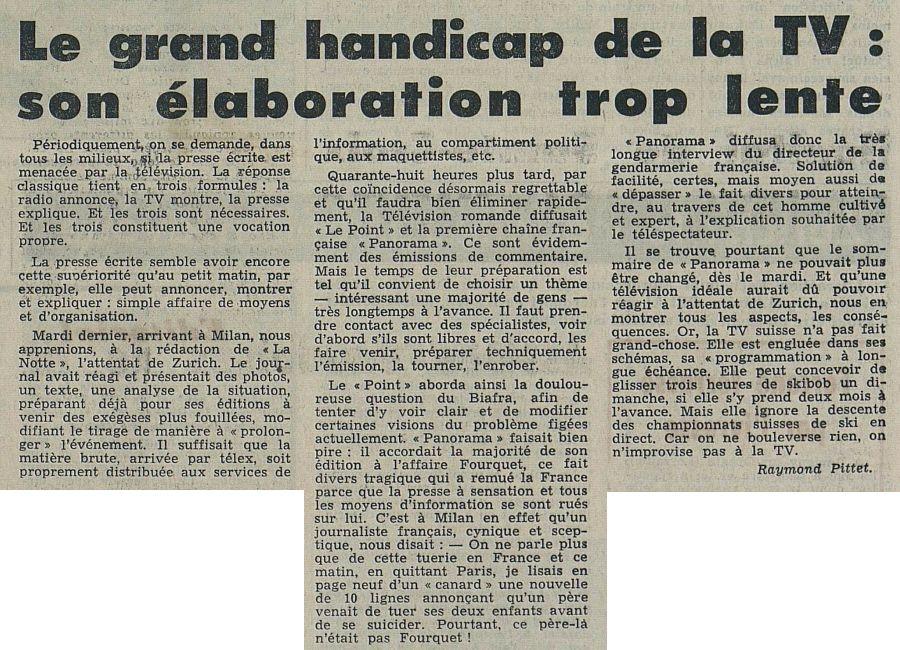 Tribune de Lausanne – Le Matin, nº 55, 24/02/1969, p. 2