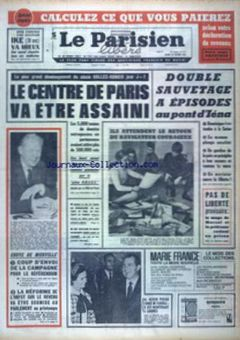 Le Parisien libéré, nº 7617, 25/02/1969, p. 1