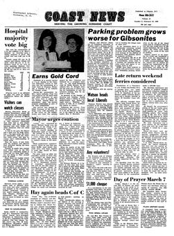 Coast News, Vol. 22, nº 8, 26/02/1969, p. 1