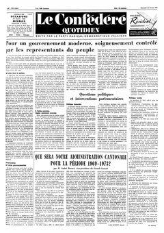 Le Confédéré quotidien, nº 47, 26/02/1969, p. 1