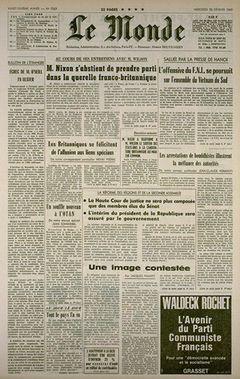 Le Monde, nº 7503, 25/02/1969, p. 1