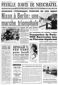Feuille d'avis de Neuchâtel, nº 49, 28/02/1969, p. 1
