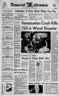 Democrat and Chronicle, 17/03/1969, p. 1