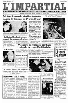 L'Impartial, nº 27982, 17/03/1969, p. 1