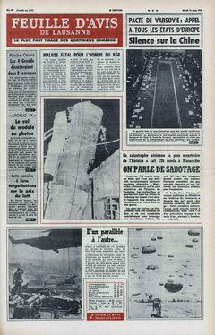 Feuille d'avis de Lausanne, nº 64, 18/03/1969, p. 1