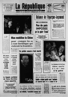 La République des Pyrénées, nº 7476, 18/03/1969, p. 1