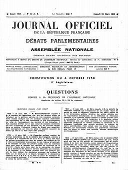 Journal officiel de la République française, édition « Débats parlementaires, Assemblée nationale », nº 12AN, 22/03/1969