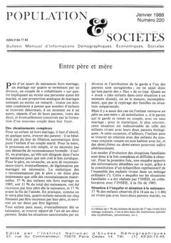Population & sociétés n° 220