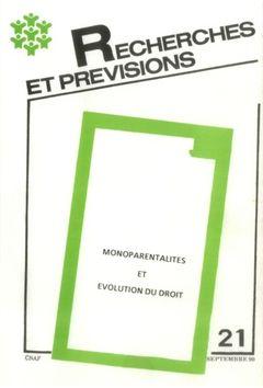 Recherches et prévisions (09/1990)