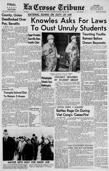 La Crosse Tribune, vol. 64, n° 267, 13/02/1969, p. 1