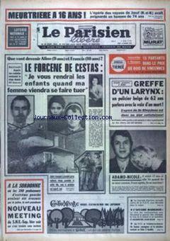 Le Parisien libéré, 13/02/1969, n° 7607, p. 1