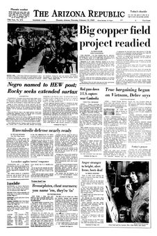 The Arizona Republic, 13/02/1969, n° 273, p. 1
