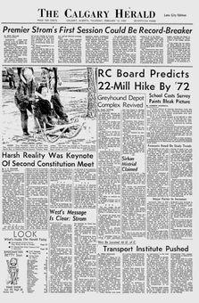 The Calgary Herald, 13/02/1969, p. 1