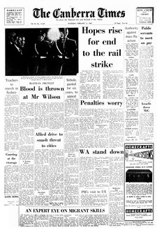 The Canberra Times, vol. 43, n° 12234, 13/02/1969, p. 1
