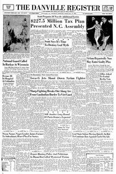 The Danville Register, n° 28193, 13/02/1969, p. 1