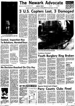 The Newark Advocate, 13/02/1969, p. 1