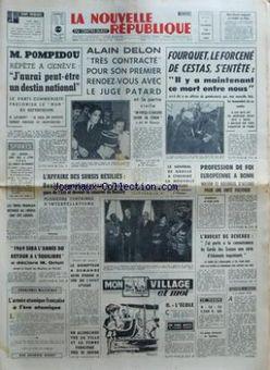 La Nouvelle République du Centre-Ouest, n° 7422, 14/02/1969, p. 1