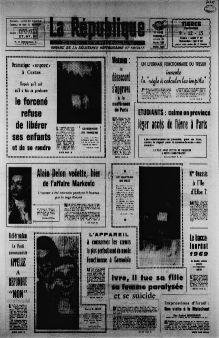 La République des Pyrénées, nº 7450, 14/02/1969, p. 1