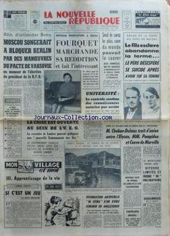 La Nouvelle République du Centre-Ouest, nº 7425, 15 février 1969, p. 1