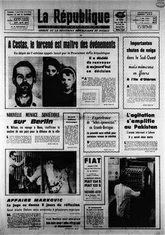 La République des Pyrénées, nº 7451, 15 février 1969, p. 1