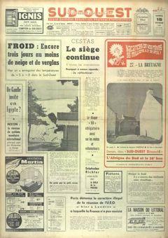 Sud-Ouest, nº 7612, 15 février 1969, p. 1