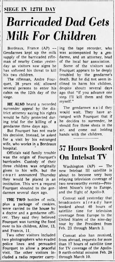The Indianapolis Star, vol. 66, nº 255, 15 février 1969, p. 46