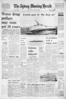 The Sydney Morning Herald, nº 40925, 15 février 1969, p. 1