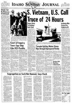 Idaho Sunday Journal, vol. LXVII, nº 298, 16 février 1969, p. 1
