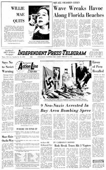 Independent Press-Telegram, vol. 18, nº 37, 16 février 1969, p. 1