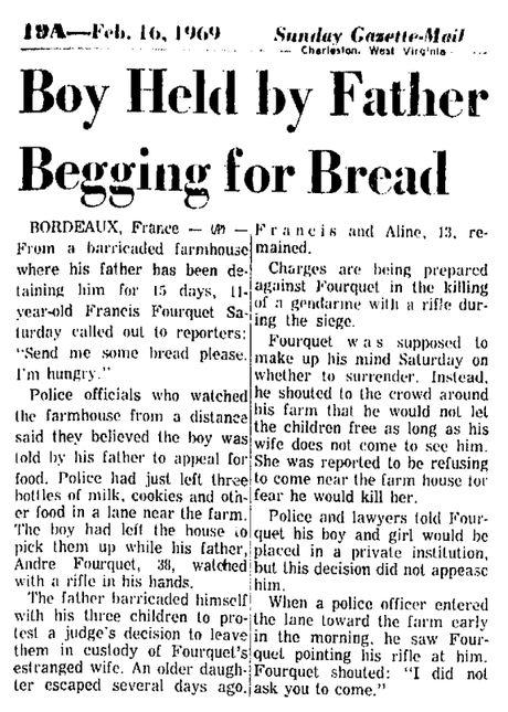 Sunday Gazette Mail, 16 février 1969, p. 19A