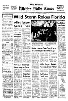 Wichita Falls Times, vol. LXI, nº 279, 16 février 1969, p. 1