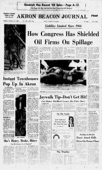 Akron Beacon Journal, nº 309, 17 février 1969, p. 1