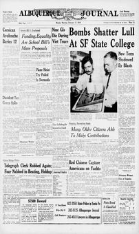 Albuquerque Journal, vol. 359, nº 48, 17 février 1969, p. 1