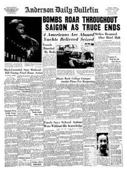 Anderson Daily Bulletin, vol. 84, nº 284, 17 février 1969, p. 1