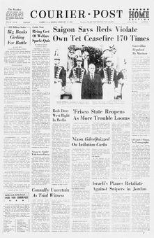 Courier-Post, vol. 94, nº 16, 17 février 1969, p. 1