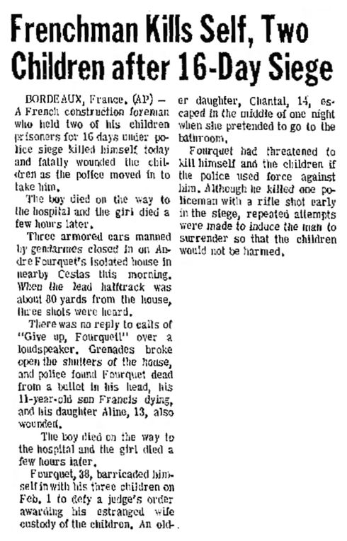 Idaho State Journal, vol. LXVII, nº 299, 17 février 1969, p. 1