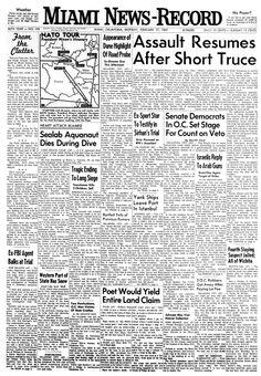 Miami News-Record, nº 199, 17 février 1969, p. 1