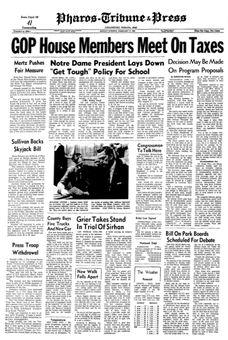 Pharos-Tribune & Press, 17 février 1969, p. 1