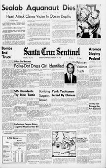 Santa Cruz Sentinel, nº 40, 17 février 1969, p. 1