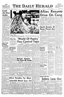The Daily Herald, vol. 85, nº 116, 17 février 1969, p. 1